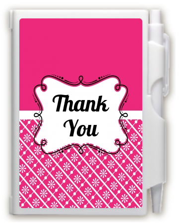 Modern Thatch Fuschia -  Personalized Notebook Favor