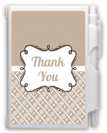 Modern Thatch Latte -  Personalized Notebook Favor