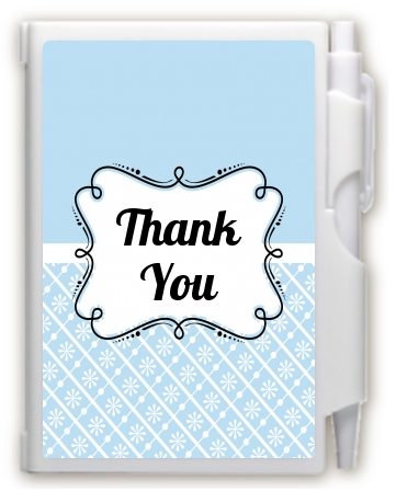 Modern Thatch Light Blue -  Personalized Notebook Favor