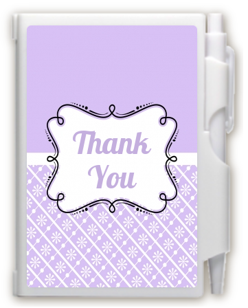 Modern Thatch Lilac -  Personalized Notebook Favor