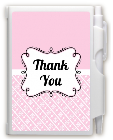 Modern Thatch Pink -  Personalized Notebook Favor