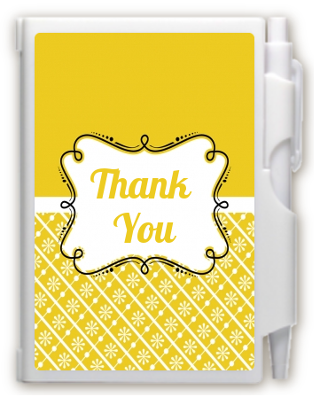 Modern Thatch Yellow -  Personalized Notebook Favor