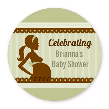 Mommy Silhouette It's a Baby - Personalized Baby Shower Table Confetti 1 Boy 1 Girl