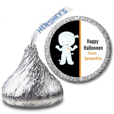 Mummy Costume - Hershey Kiss Halloween Sticker Labels