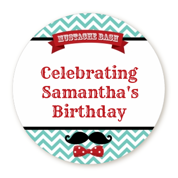 Mustache Bash - Personalized Birthday Party Table Confetti