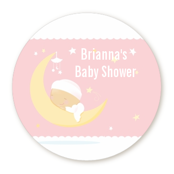 Over The Moon Girl - Personalized Baby Shower Table Confetti