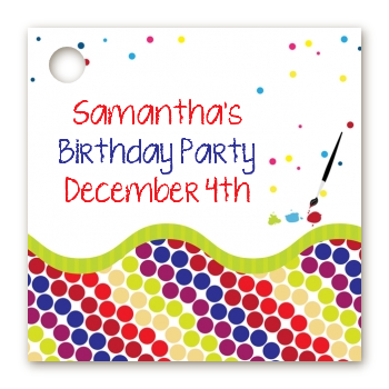 Paint Party - Personalized Birthday Party Card Stock Favor Tags