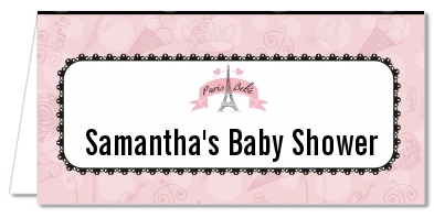 Paris BeBe - Personalized Baby Shower Place Cards