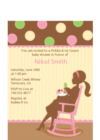 Pickles & Ice Cream - Baby Shower Petite Invitations