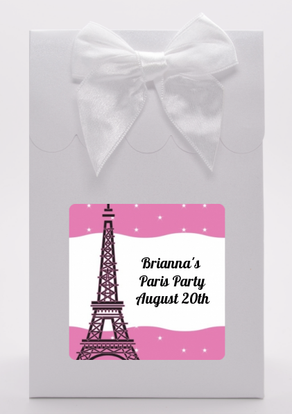 Pink Poodle in Paris - Birthday Party Goodie Bags