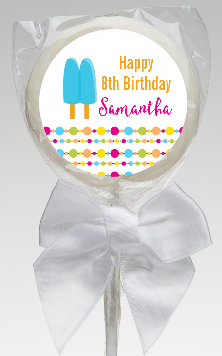 Popsicle Stick - Personalized Birthday Party Lollipop Favors Option 1