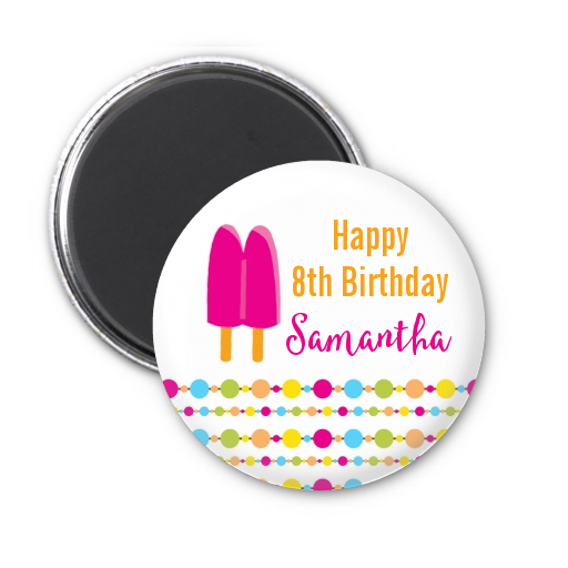 Popsicle Stick - Personalized Birthday Party Magnet Favors Option 1