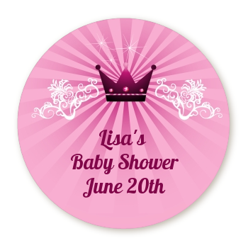 Princess Royal Crown - Personalized Baby Shower Table Confetti