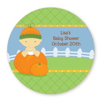 Pumpkin Baby Asian - Personalized Baby Shower Table Confetti