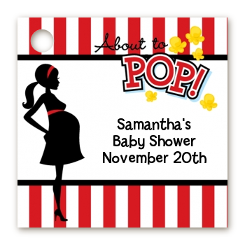 Ready To Pop ® - Personalized Baby Shower Card Stock Favor Tags Option 1