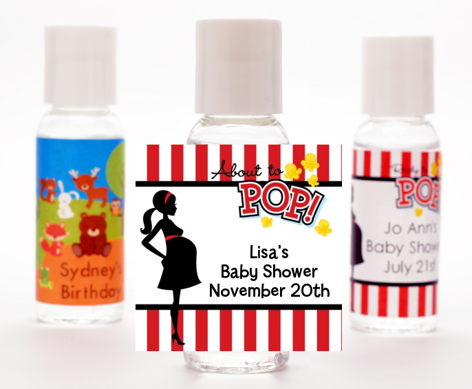 Ready To Pop ® - Personalized Baby Shower Hand Sanitizers Favors Option 1