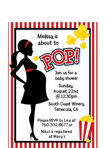 Ready To Pop ® - Baby Shower Petite Invitations