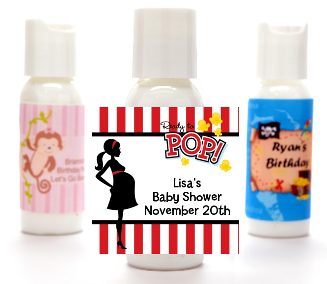 Ready To Pop ® - Personalized Baby Shower Lotion Favors Option 1