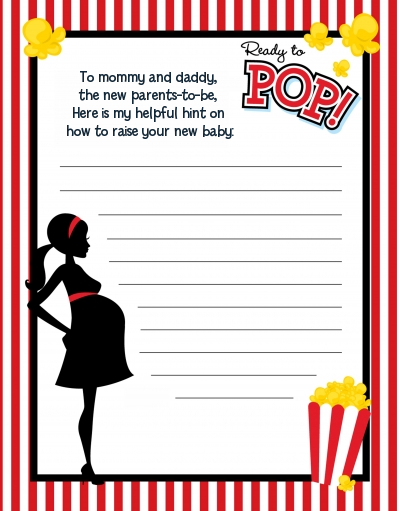 Ready To Pop ® - Baby Shower Notes of Advice
