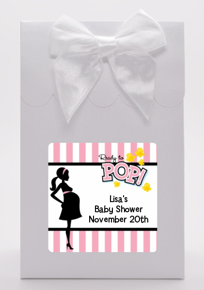Ready To Pop Pink - Baby Shower Goodie Bags Pink