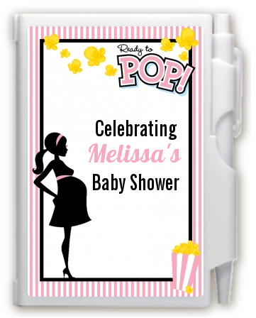 Ready To Pop Pink - Baby Shower Personalized Notebook Favor