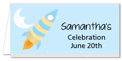 Rocket Ship - Personalized Baby Shower Place Cards