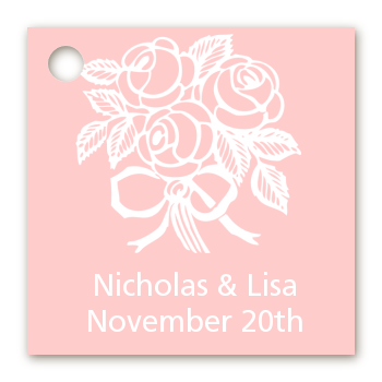 Roses - Personalized Bridal Shower Card Stock Favor Tags