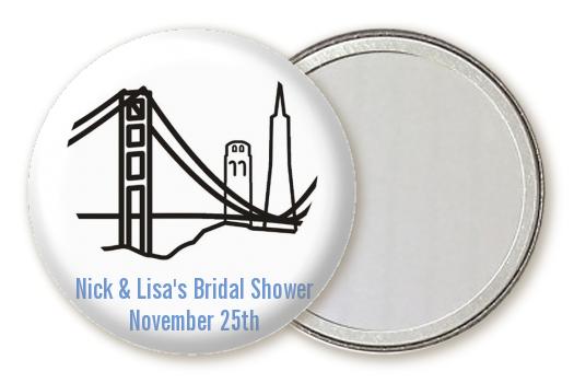 san francisco skyline personalized bridal shower pocket mirror favors