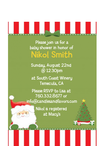 Santa Claus - Christmas Petite Invitations