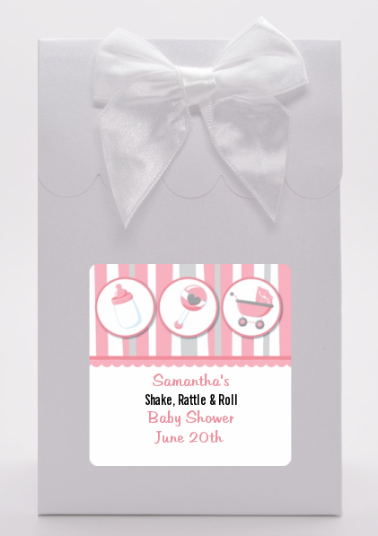 Shake, Rattle & Roll Pink - Baby Shower Goodie Bags