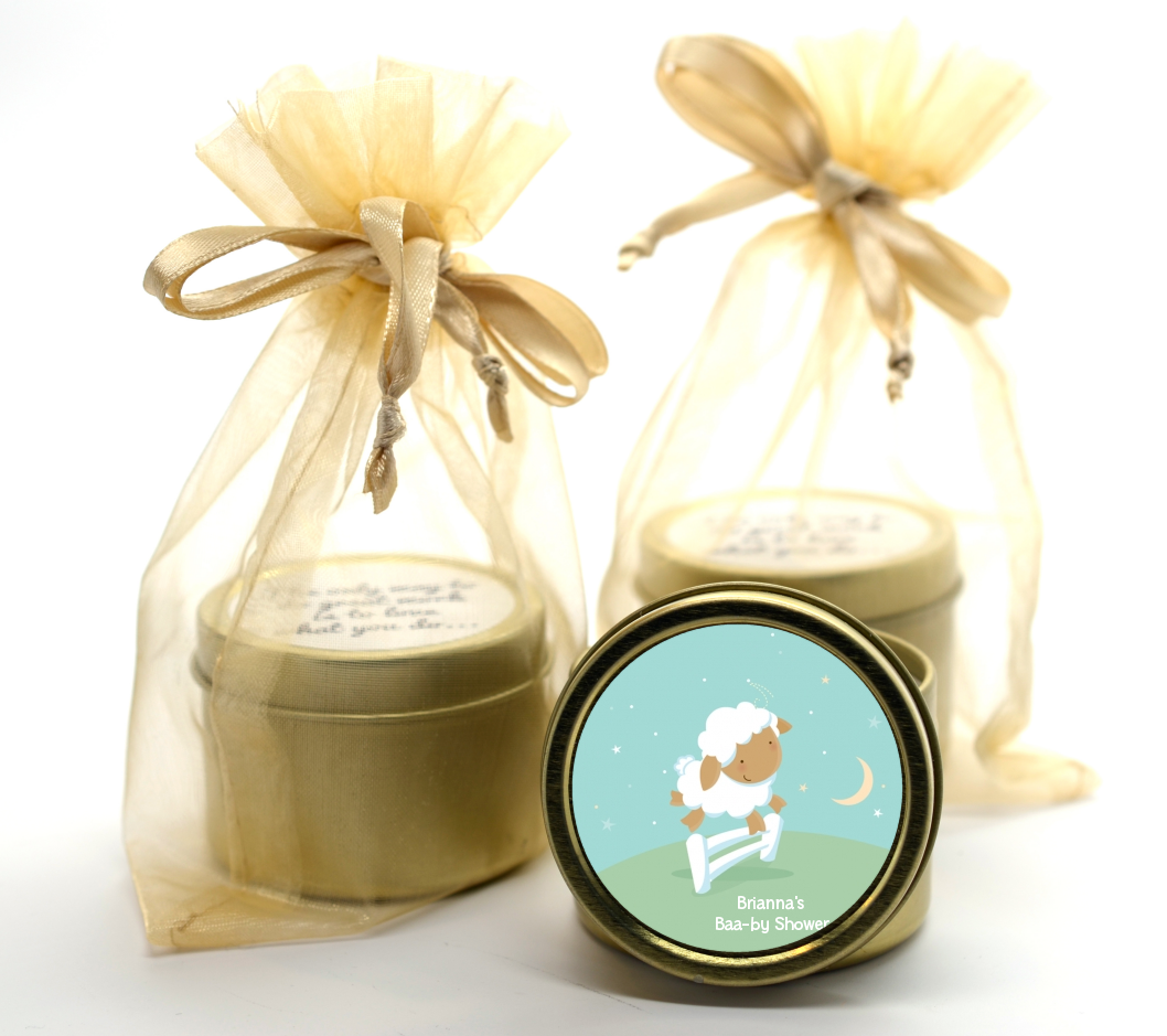 Sheep Gold Tin Candle Favors   Candles & Favors