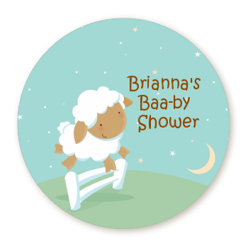 Sheep - Personalized Baby Shower Table Confetti