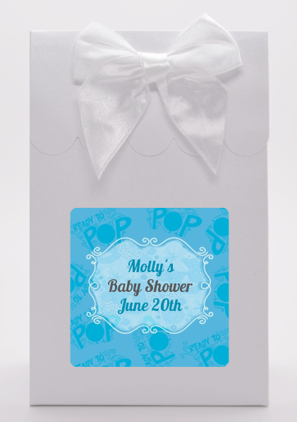 She's Ready To Pop Blue - Baby Shower Goodie Bags