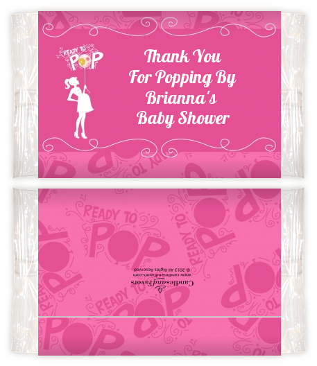 Shes Ready To Pop Pink Baby Shower Popcorn Wrappers Baby Shower