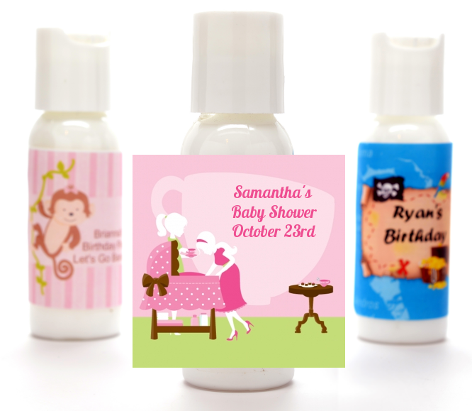 Sip And See Its A Girl Personalized Baby Shower Lotion Favors