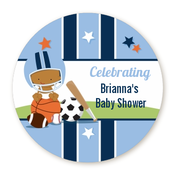 Sports Baby African American - Personalized Baby Shower Table Confetti