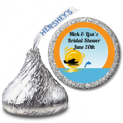 Sunset Trip - Hershey Kiss Bridal Shower Sticker Labels