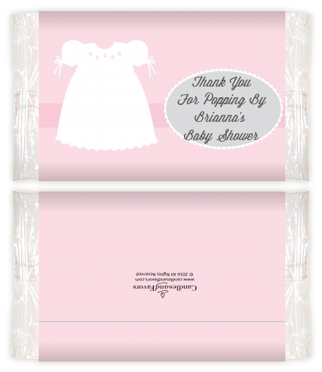 Sweet Little Lady Baby Shower Popcorn Wrappers Baby Shower Popcorn
