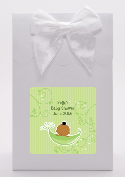 Sweet Pea African American Boy - Baby Shower Goodie Bags