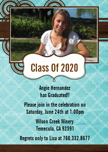 Teal & Brown - Graduation Party Invitations