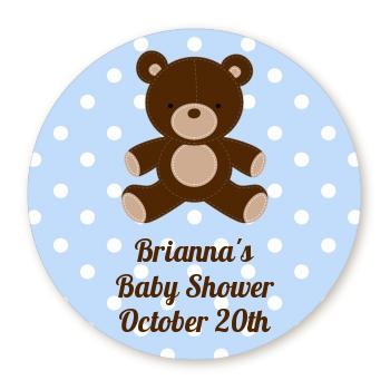 teddy bear blue personalized sticker labels teddy bear blue baby