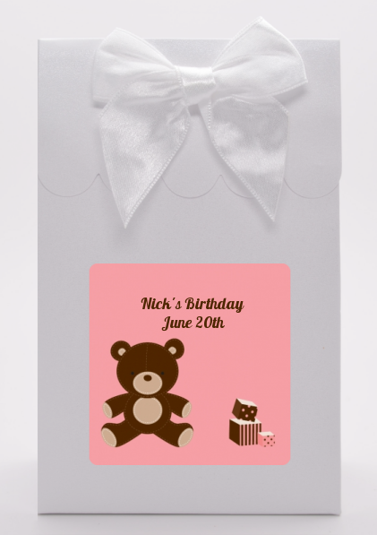 Teddy Bear - Birthday Party Goodie Bags Blue