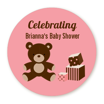 Teddy Bear Pink - Personalized Baby Shower Table Confetti