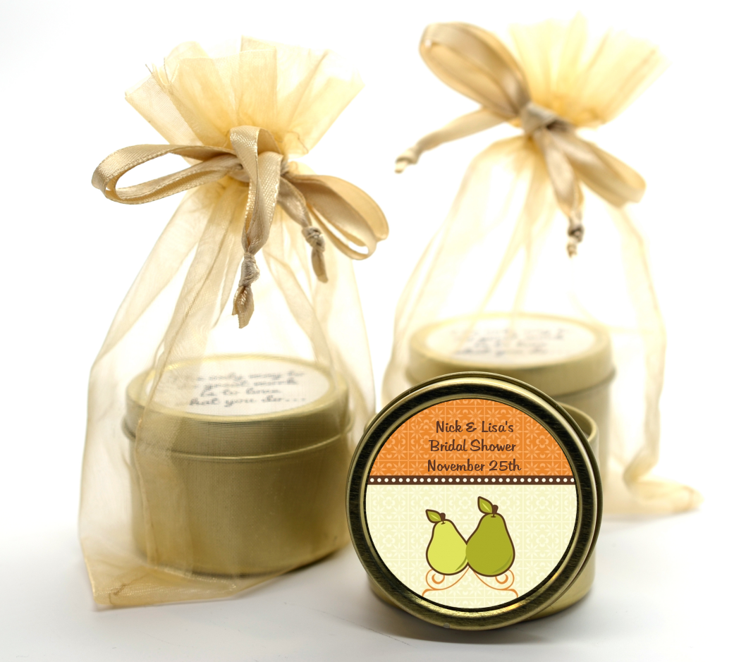 The Perfect Pair Gold Tin Candle Favors Candles Favors