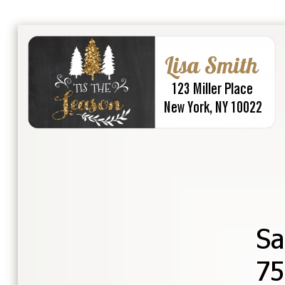 tis the season christmas return address labels
