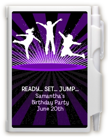 Trampoline - Birthday Party Personalized Notebook Favor