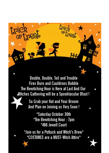 Trick or Treat - Halloween Petite Invitations