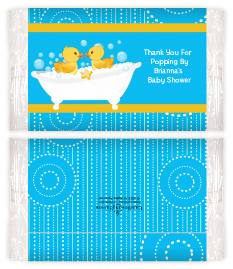 Twin Duck Baby Shower Popcorn Wrappers Baby Shower Popcorn Wrappers