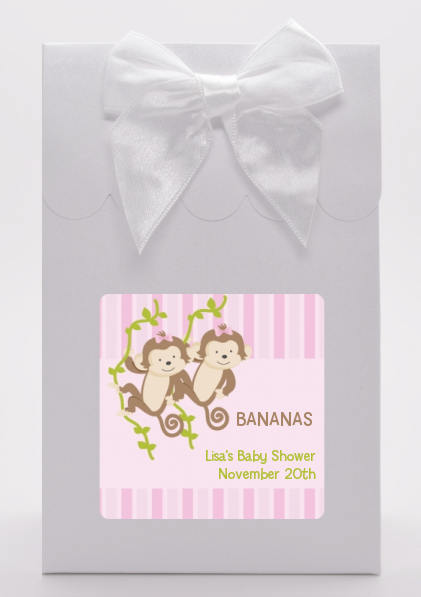 Twin Monkey Girls - Baby Shower Goodie Bags