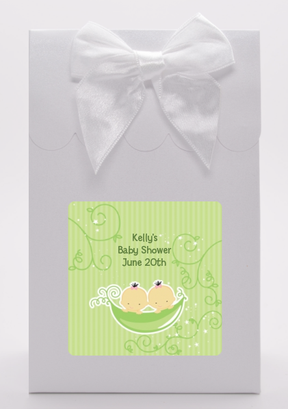 Twins Two Peas in a Pod Asian - Baby Shower Goodie Bags 1 Boy 1 Girl